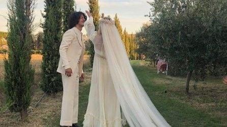 Il matrimonio di Carolina Crescentini e Motta
