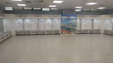 Stadio San Paolo, i nuovi spogliatoi al 12 settembre 2019