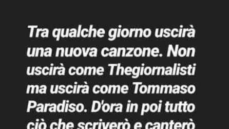 """Tommaso Paradiso annuncia: """"I TheGiornalisti non esistono più"""""""