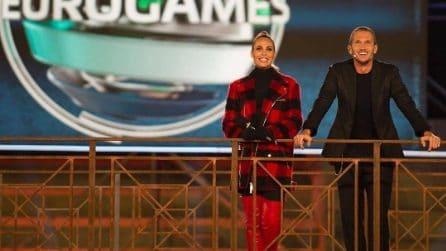 Ilary Blasi, i look della presentatrice di Eurogames