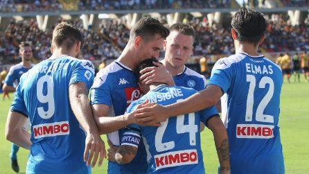 Serie A 19-20, le immagini di Lecce-Napoli