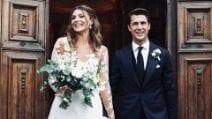 Gli abiti da sposa di Cristina Chiabotto per le nozze con Marco Roscio