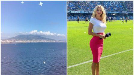 Diletta Leotta a Napoli: gli scatti tra lo stadio San Paolo, il Vesuvio e Posillipo