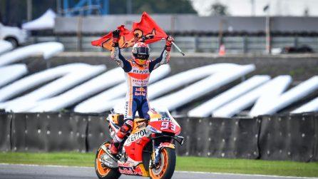 MotoGP, Marquez otto volte campione del mondo
