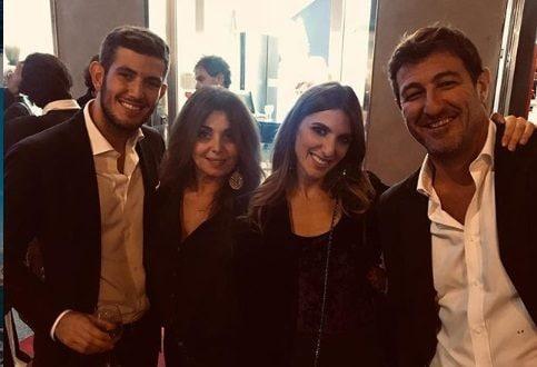 Con il fratello Paolo, mamma Paola e papà Ciro
