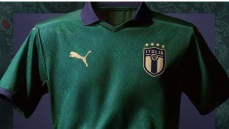 Nazionale, le foto della nuova maglia verde ispirata al Rinascimento