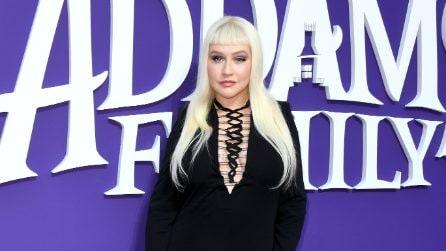 Christina Aguilera con la mini frangia