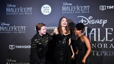 Maleficent 2, l'anteprima a Roma: Angelina Jolie con le figlie e Michelle Pfeiffer