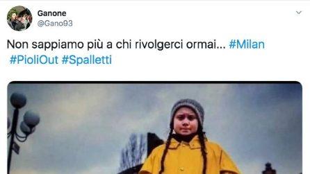 #Pioliout l'hashtag di protesta dei tifosi del Milan