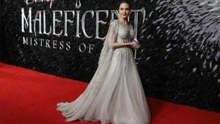 Angelina Jolie in versione principessa alla prima di Maleficent