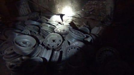 Casalnuovo, scoperta discarica abusiva sotterranea di mille metri quadri