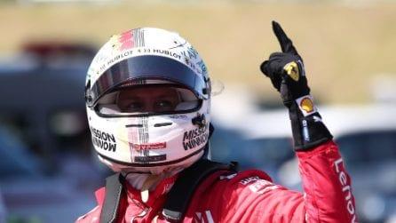 Vettel da record, a Suzuka prima fila tutta Ferrari