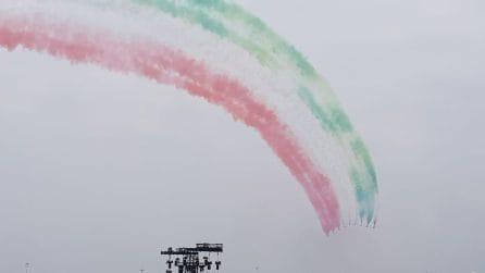 Milano, lo spettacolo delle Frecce Tricolori al Linate Air Show