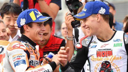 MotoGP, vittoria di Marquez in Giappone. Quartararo rookie dell'anno