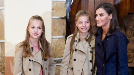 Leonor e Sofia di Spagna con i look da uomo coordinati
