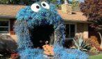 La decorazione per Hallowen è bellissima: questa donna veste la casa come Cookie Monster