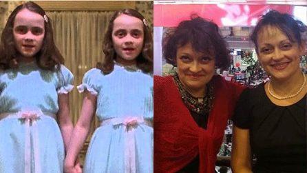 Le foto delle gemelline di Shining ieri e oggi
