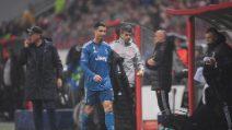 Cristiano Ronaldo sostituito da Sarri, la prende male