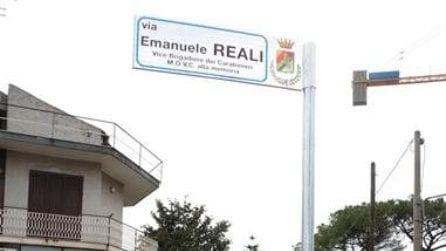 Caserta intitola una strada ad Emanuele Reali, il carabiniere morto per inseguire un ladro