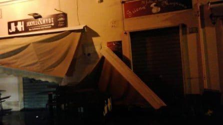 Tromba d'aria a Santa Marinella, danni nella zona del porticciolo