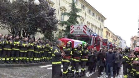 I funerali solenni dei vigili del fuoco morti nell'incendio di Alessandria