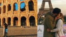 Kristiana, la ragazza che bacia ragazzi sconosciuti davanti a monumenti famosi