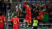 Tripletta per Cristiano Ronaldo in Portogallo-Lituania