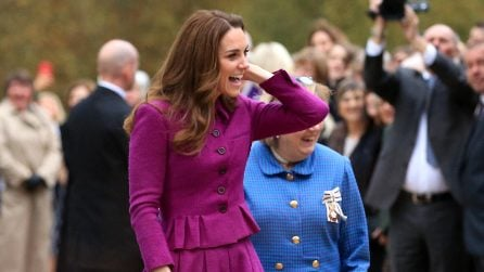 Kate Middleton, per l'autunno sceglie il color magenta