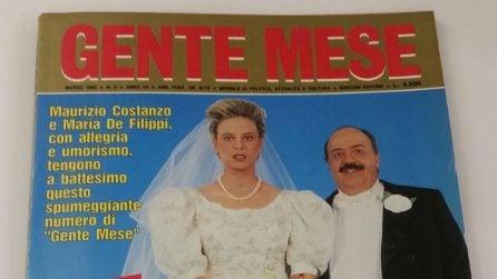 La verità su Maurizio Costanzo e Maria De Filippi sposi: le foto originali di Gente Mese del 1992
