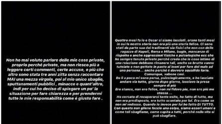 Le parole di Eleonora Rocchini su Instagram