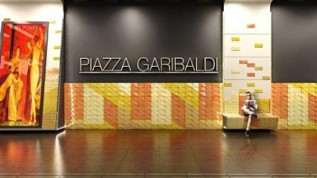 Piazza Garibaldi e Porta Nolana, le immagini delle nuove stazioni Eav