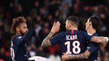 Psg-Lille, le immagini del gol di Mauro Icardi