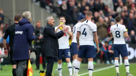 Mourinho, le immagini dell'esordio da allenatore del Tottenham contro il West Ham