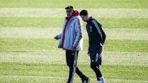 Juventus, le immagini del colloquio tra Sarri e Ronaldo