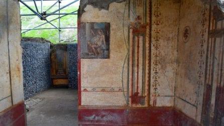 Pompei, apre Via del Vesuvio con la casa di Leda e il Cigno, gli Amorini Dorati e le Terme Centrali