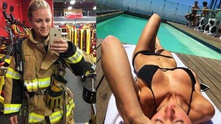 Vigile del fuoco e nel tempo libero modella: Ewa diventa star su Instagran