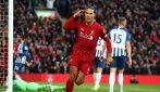Il Liverpool batte anche il Brighton