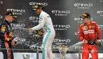 F1, Hamiton super, Verstappen e Leclerc sul podio: le foto del GP di Abu Dhabi