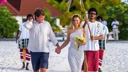 Il secondo matrimonio di Nicoletta Romanoff alle Maldive