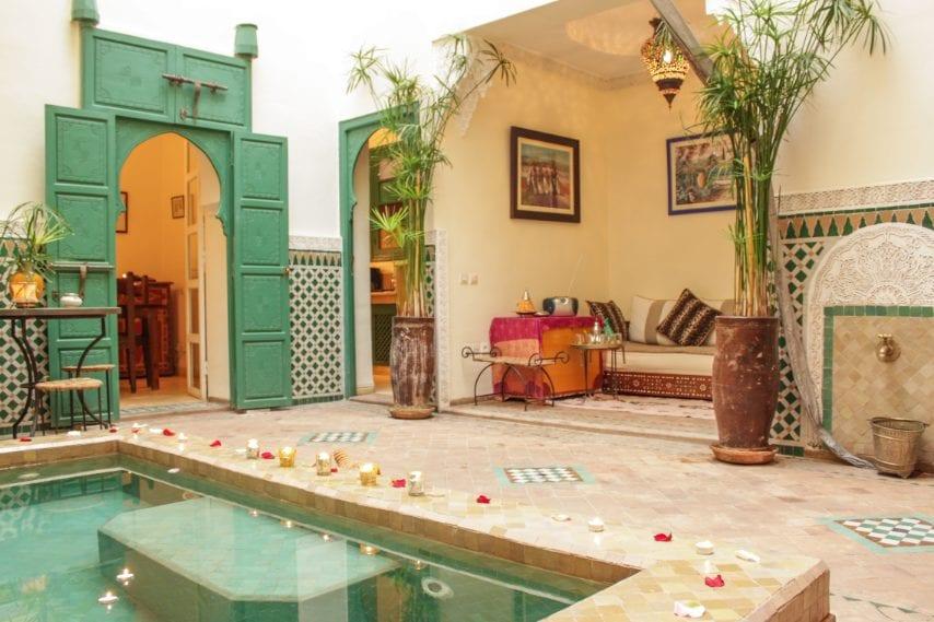 Al quarto posto della classifica c'è un tocco di oriente (senza allontanarsi troppo da casa): gli italiani hanno scelto infatti questo riad nel cuore della Medina a Marrakech, meta che negli ultimi anni sta attraendo sempre più visitatori.