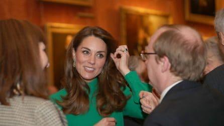 Kate Middleton in verde per il vertice della Nato