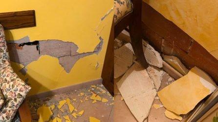 Terremoto Barberino di Mugello, i danni della scossa in alcune abitazioni