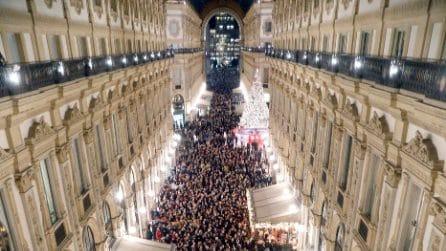 Milano, marcia dei comuni per la Senatrice Segre