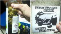 Milano, arrestato per spaccio di hashish, marijuana ed eroina: in casa aveva adesivi anti-polizia