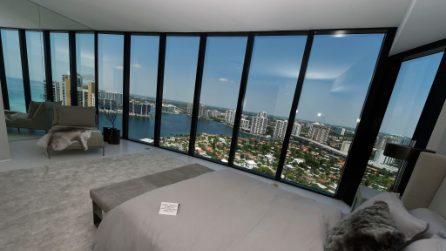 Messi, le immagini della nuova casa di lusso nella Porsche Design Tower di Miami