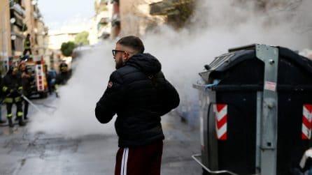 Protesta dei residenti di Casal Bruciato: termosifoni spenti, barricate in fiamme
