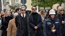 Lacrime ai funerali di Massimo Preziosi, papà dell'attore Alessandro