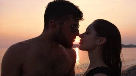 """Enrica Musto, vincitrice di """"Tu sì sue vales"""", con il fidanzato Raoul Bove"""