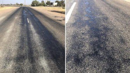 In Australia le strade si stanno sciogliendo per il caldo record