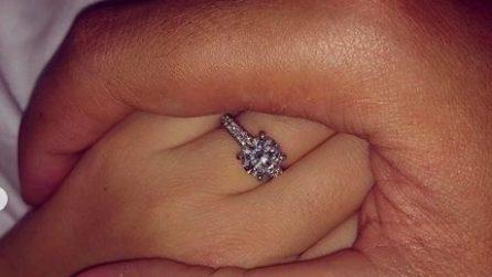 L'anello di fidanzamento di Elettra Lamborghini